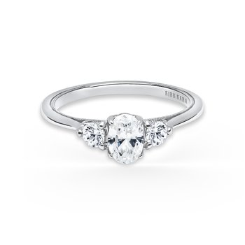 Three Stone Boho Engagement Ring