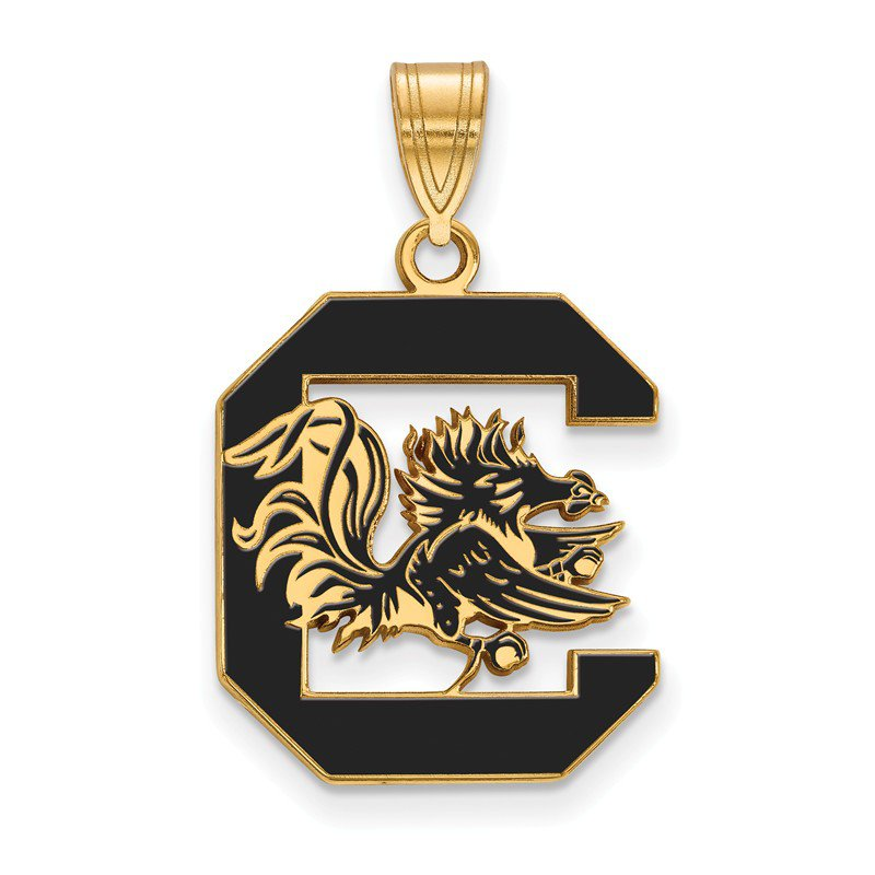 NCAA Gold-Plated Sterling Silver University of South Carolina NCAA Pendant