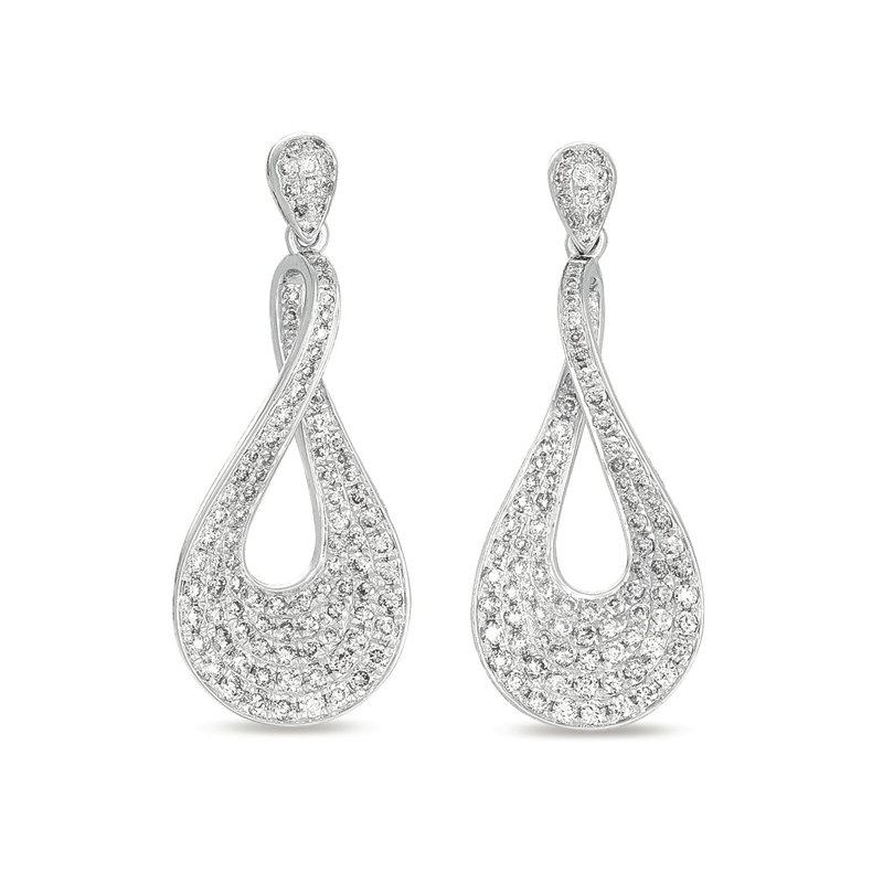 Briana White Gold Diamond Earring Pave