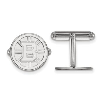 Sterling Silver Boston Bruins NHL Cuff Links