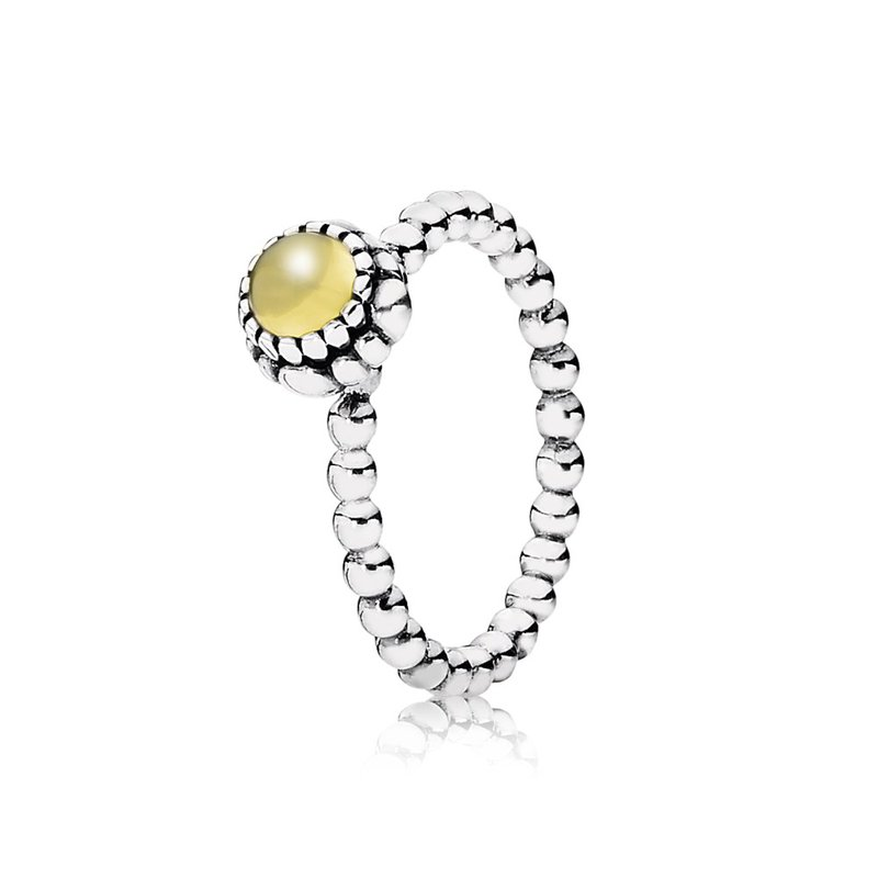 PANDORA Birthday Blooms Ring, November, Citrine
