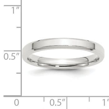 SS 3mm Bevel Edge Size 10 Band