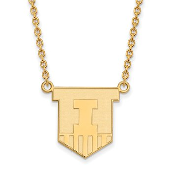 Gold-Plated Sterling Silver University of Illinois NCAA Necklace