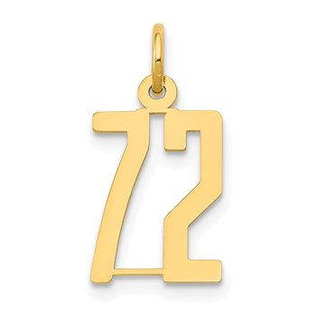 14k Small Polished Elongated 72 Charm