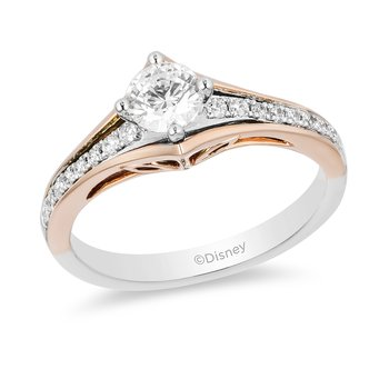 14KWP Gold 5/8CTW Aurora Bridal Ring