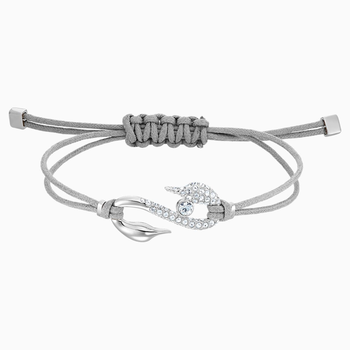 Swarovski Power Collection Hook Bracelet, Gray, Rhodium plated