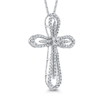 1/2 Ct Diamond Cross Pendant with Chain