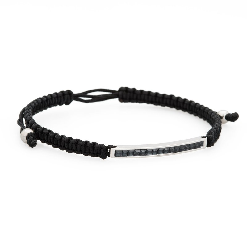 Brosway Bracelet. 316L stainless steel, black cotton macramé cord and silver night Swarovski® Elements crystals