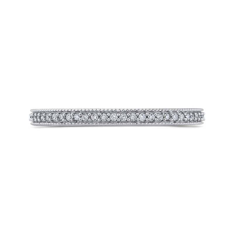 Essentials 10K White Gold 1/3 ct Round White Diamond Eternity Wedding Band Ring