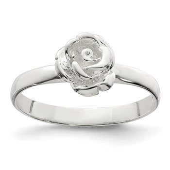 Sterling Silver 8mm Rose Ring
