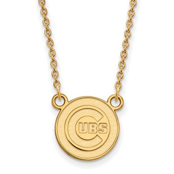 Gold-Plated Sterling Silver Chicago Cubs MLB Necklace