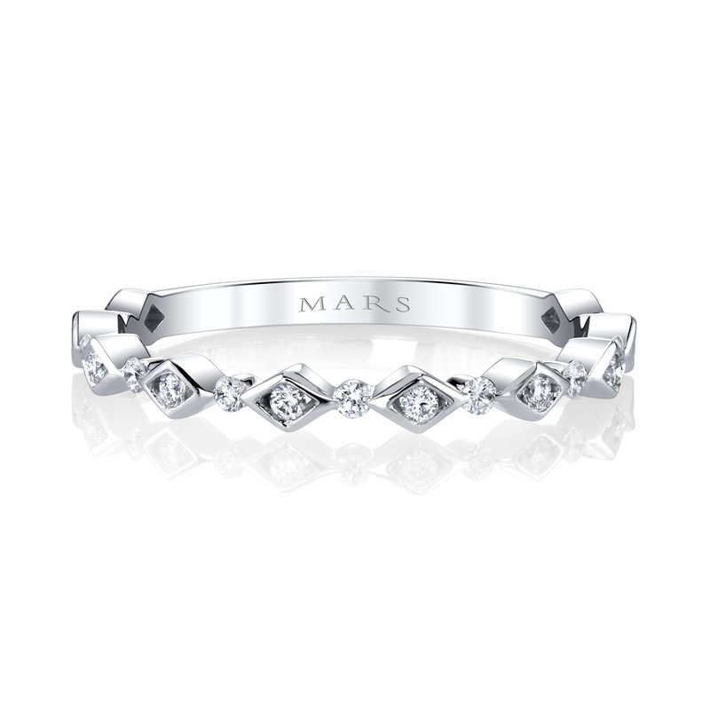 MARS Jewelry MARS 27313 Stackable Band, 0.18 Ctw.