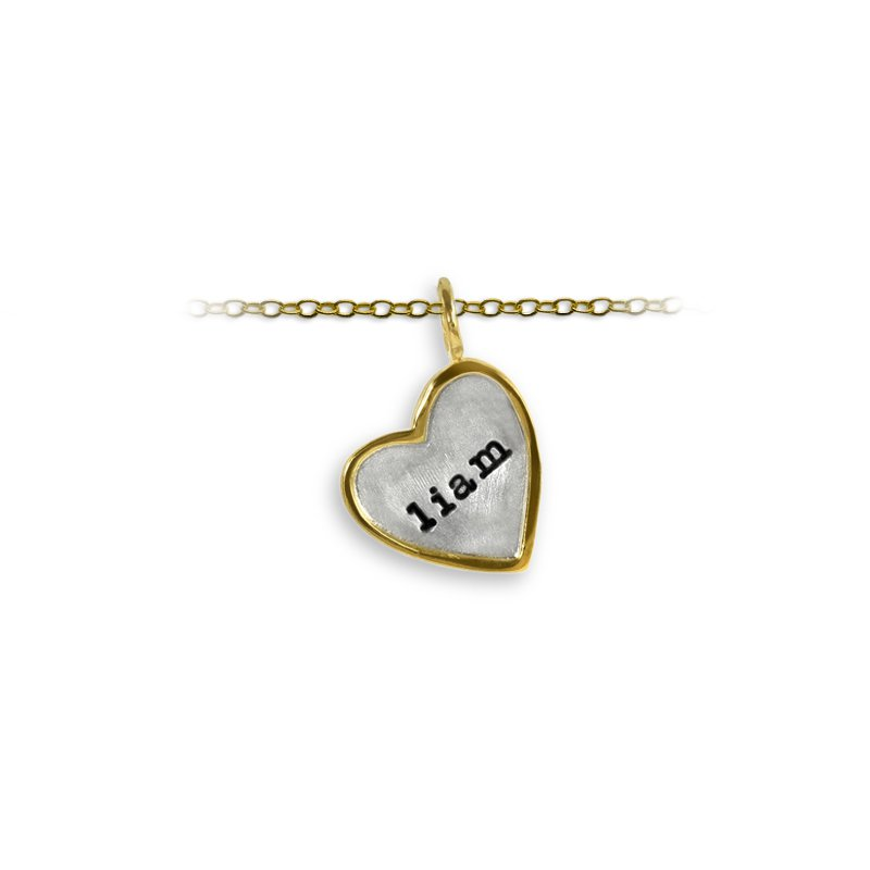 Slate and Tell 17mm Heart Shape Tag Charm with Frame