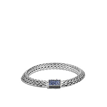 Tiga Classic Chain 8MM Bracelet in Silver with Gemstone