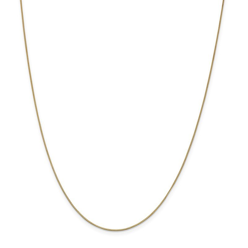 Quality Gold 14k .7mm Box with Lobster Clasp Chain