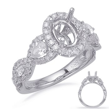 White Gold Halo Engagement Rin