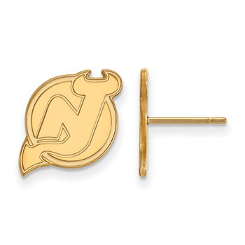 Gold-Plated Sterling Silver New Jersey Devils NHL Earrings