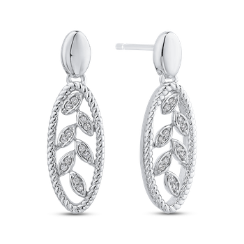 1/10 ct Round White Diamond Fashion Earrings