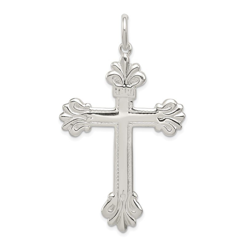 Quality Gold Sterling Silver INRI Cross Pendant