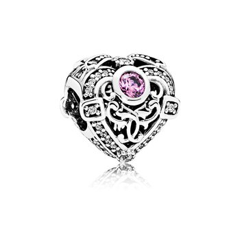 Opulent Heart, Orchid & Clear CZ