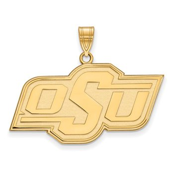 Gold-Plated Sterling Silver Oklahoma State University NCAA Pendant