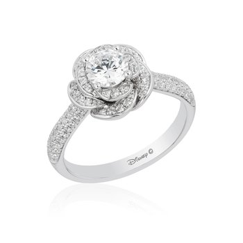 14KW 1 1/4CTW Belle bridal ring