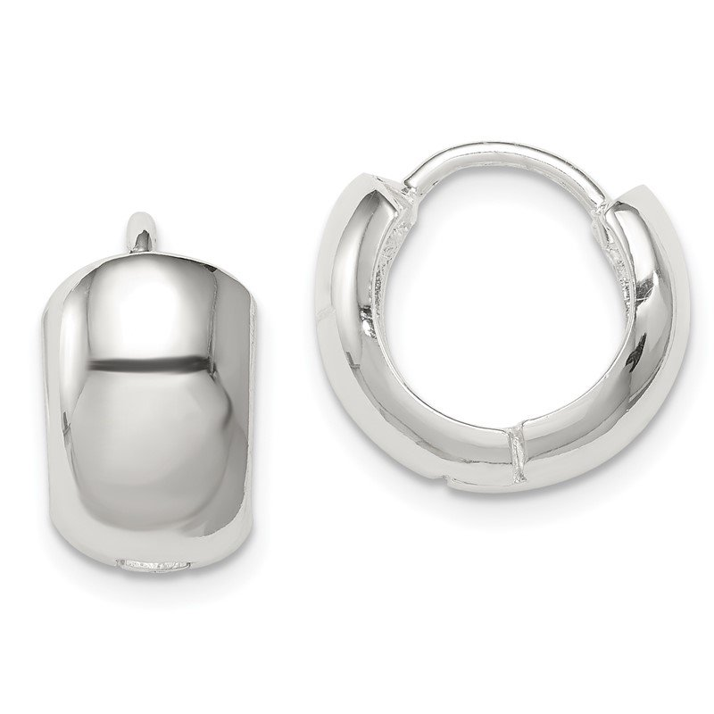 Lester Martin Online Collection Sterling Silver Hinged Hoop Earrings