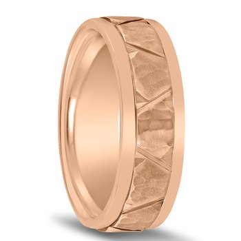 Colors Hammered Wedding Band N03098 by Novell