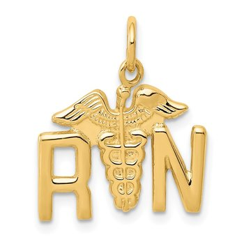 14k RN Registered Nurse Charm