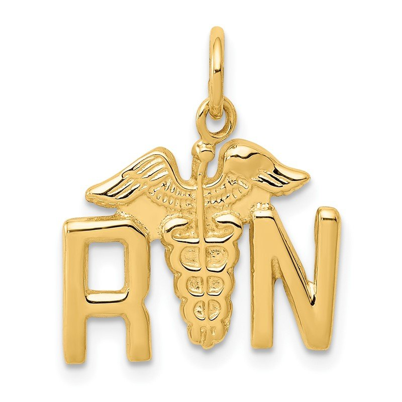 Quality Gold 14k RN Registered Nurse Charm