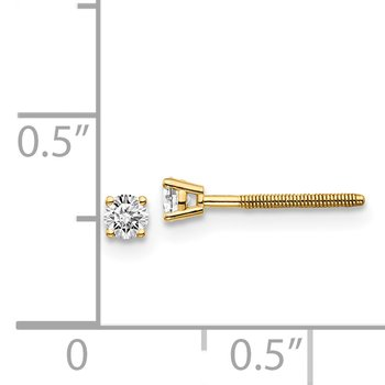 14ky .10ct. VS2/SI1 G-I Diamond Stud Thread on/off Post Earrings