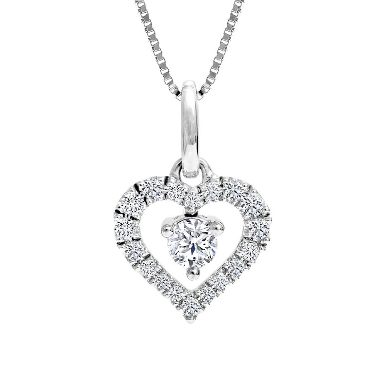 Canadian Rocks Diamond Heart Pendant