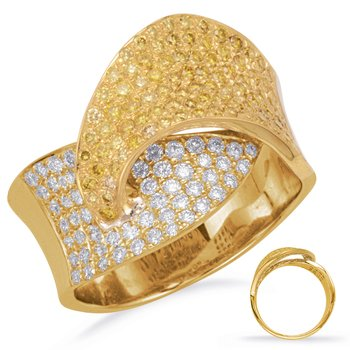 Yellow Gold Yellow Diamond Ring