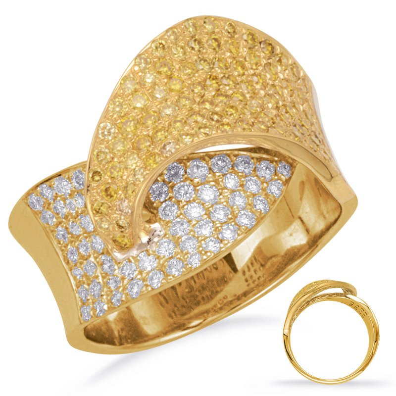 S. Kashi  & Sons Yellow Gold Yellow Diamond Ring