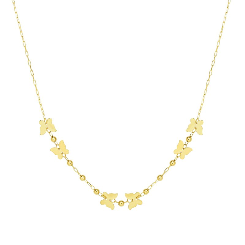Royal Chain 14K Gold Butterfly Necklace