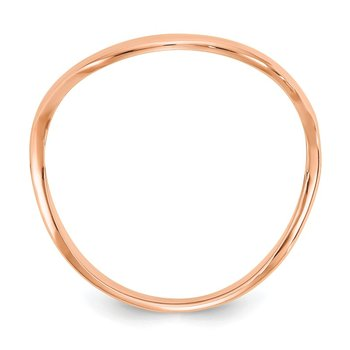 14K Rose Gold Wave Fashion Thumb Ring