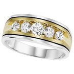 Bridal Bells 14K Diamond Men's Band 1 ctw