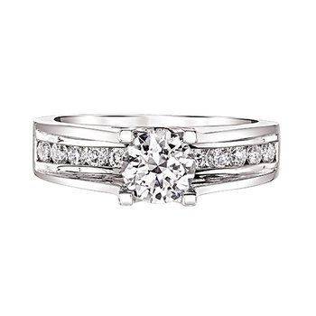 Channel-Set Engagement Ring by Love Story