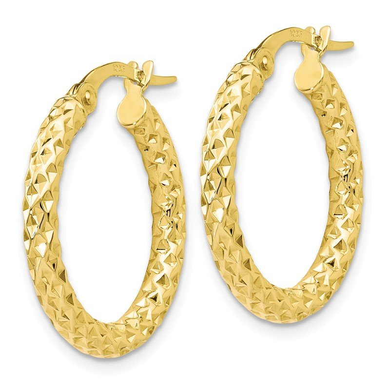 Leslie's Leslie's 10K Polished D/C Hoop Earrings