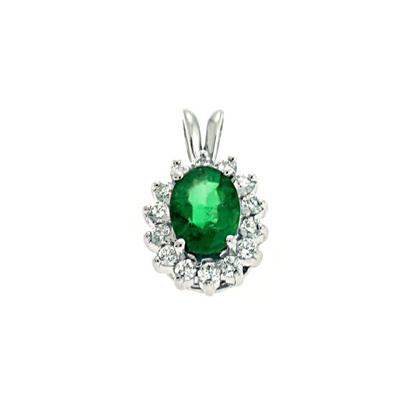 S. Kashi  & Sons Emerald & Diamond Pendant
