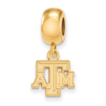 Gold-Plated Sterling Silver Texas A&M University NCAA Bead
