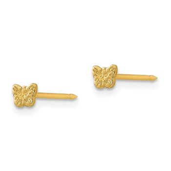 Inverness 24k Plated Petite Butterfly Earrings