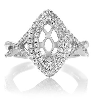 Marquise Cut White Gold Engagement Setting