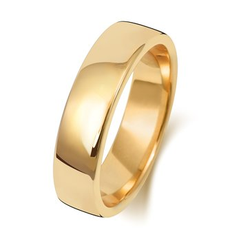 18Ct Yellow Gold 5mm Soft Court Wedding Ring