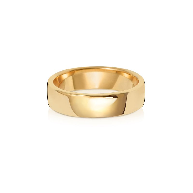 Treasure 18Ct Yellow Gold 5mm Soft Court Wedding Ring