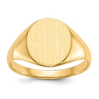 14k 11.0x9.5mm Open Back Signet Ring