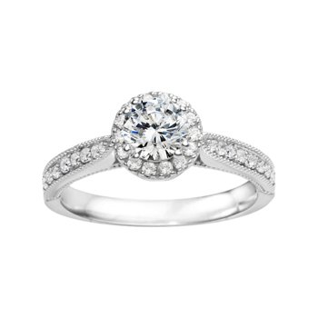 Round Halo Classic Engagement Ring
