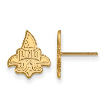 Gold University of New Orleans NCAA Earrings