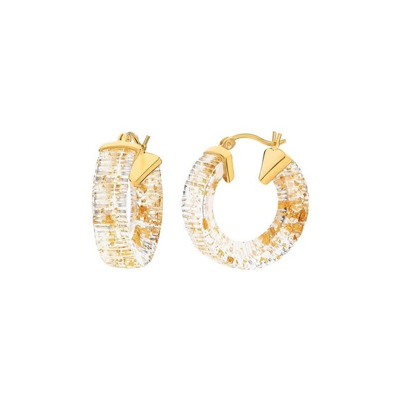 LARUS Jewelry Lucite Hoops 20mm