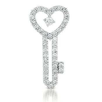 White Gold Key Charm